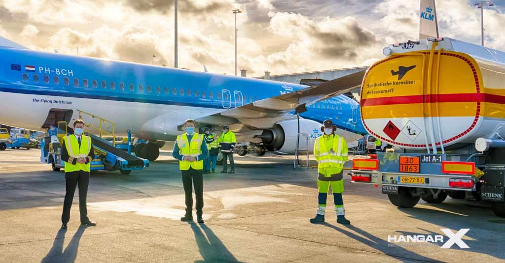 KLM / Shell - Combustible de aviación sustentable sintético