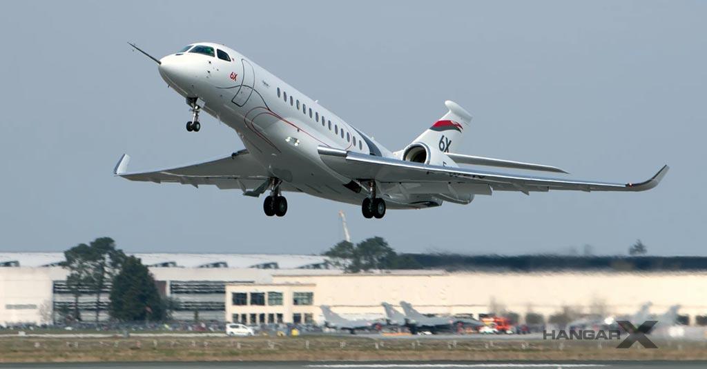 El Dassault Falcon 6X realizó su primer vuelo
