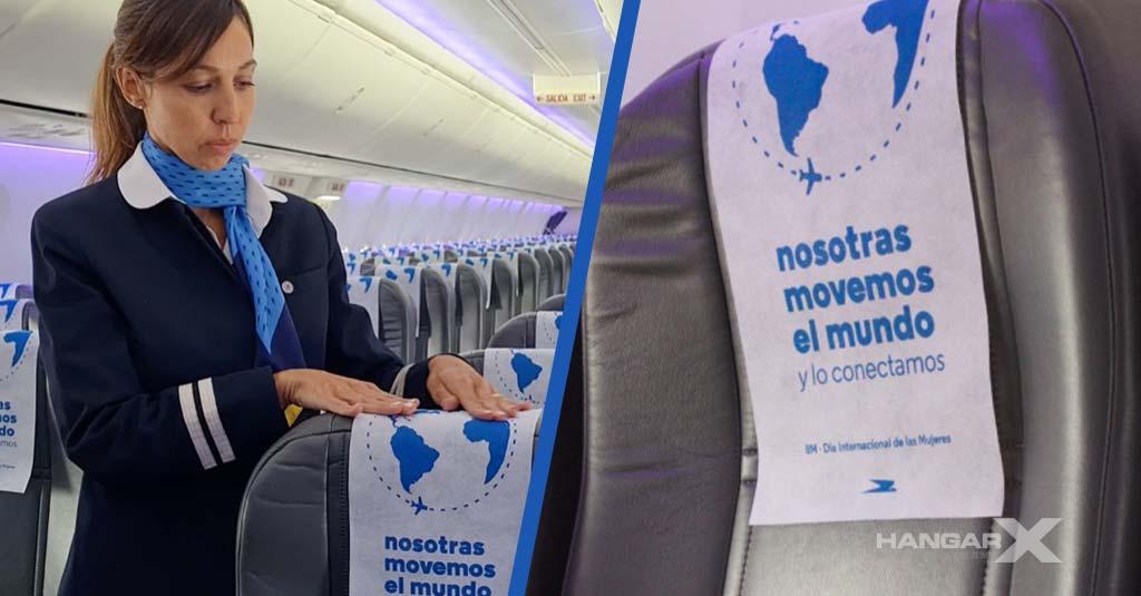 El Día Internacional de la Mujer en los aviones de Aerolíneas Argentinas