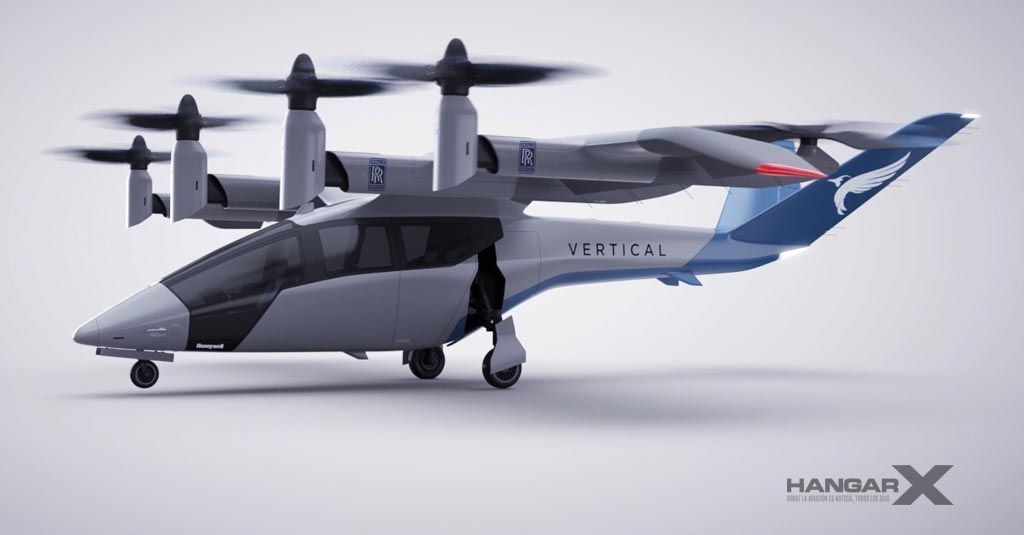 Vertical Aerospace VA-X4 Powered by Rolls Royce