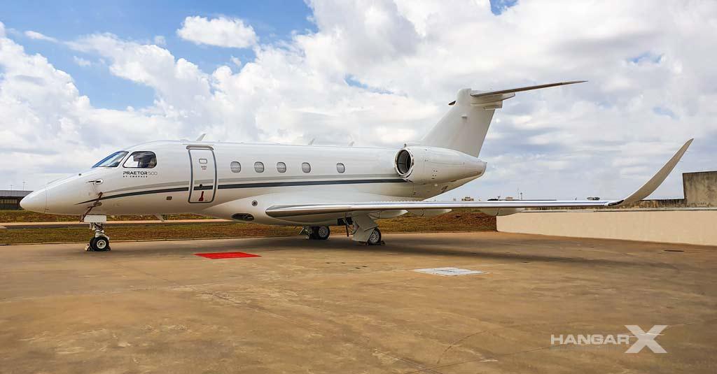 Embraer realizó la primer conversión de un Praetor 500 en Brasil
