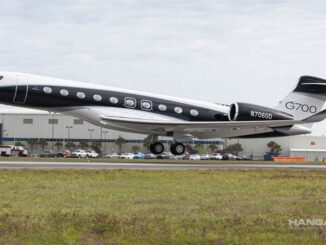 Gulfstream voló el primer G700 totalmente equipado