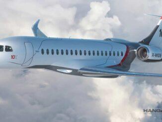 Dassault Aviation presentó el nuevo Falcon 10X