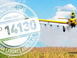 resentaron un manual para la implementación de la Norma IRAM 14130 en aplicaciones aéreas de fitosanitarios