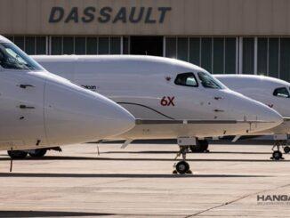 Dassault Aviation suma un tercer Falcon 6X al programa de ensayos