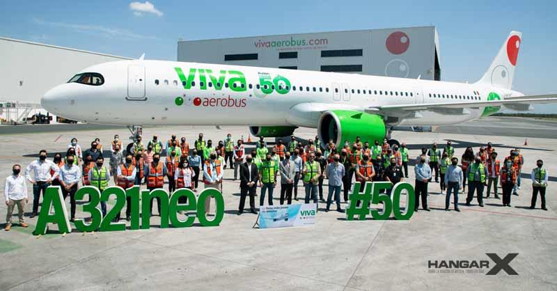 Viva Aerobus amplía su flota a un total de 50 aviones, al recibir su décimo Airbus A321neo