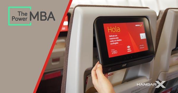 Iberia y ThePowerMBA ofrecerán cursos de Negocios y Marketing Digital a 30.000 pies de altura